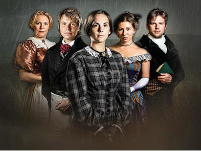 Cast of Jane Eyre dressed in gothic costume