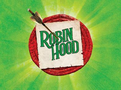 A green background with a red target. An arrow holds a piece of paper in place saying Robin Hood.